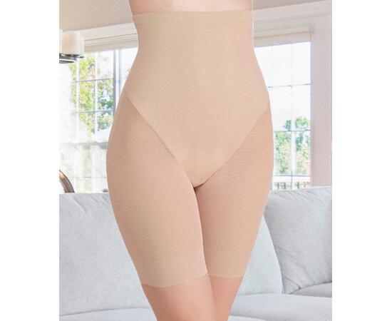 Pantalon modelator, cu banda silicon antialunecare si talie inalta