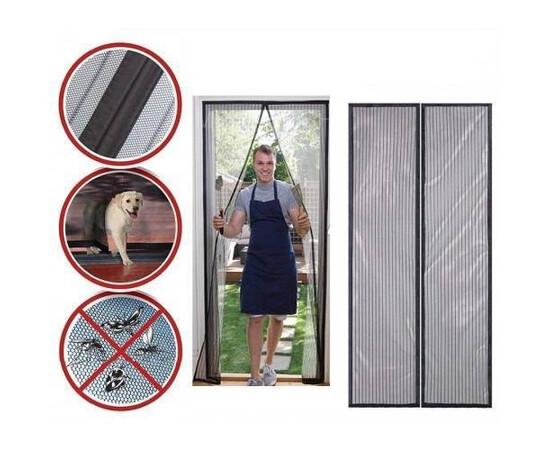 SET: 2 x Perdea tip plasa anti insecte cu inchidere magnetica