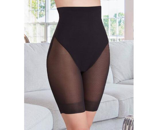 SET: Pantalon modelator, cu banda silicon antialunecare si talie inalta + Sutien push up, cu snur
